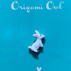 Origami Owl White Bunny Charm